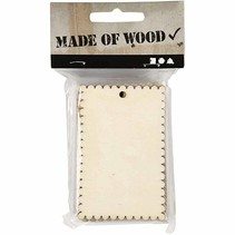 Schild oder Herzform aus Holzfurnier mit gewellter Kante