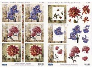 "BILDER / PICTURES: Studio Light, Staf Wesenbeek, Willem Haenraets 3D die cut sheet + arch motif, ""Window Card Flowers"""