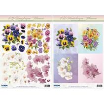 3D-Stanzbogenset Motiv Blumen