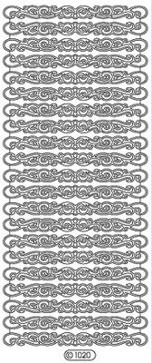Sticker Ziersticker, bordi, oro, 10x23cm