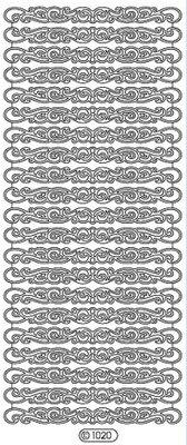 Sticker Ziersticker, kanter, guld, 10x23cm