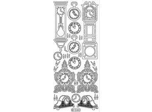 Sticker Ziersticker, ur, guld, 10x23cm