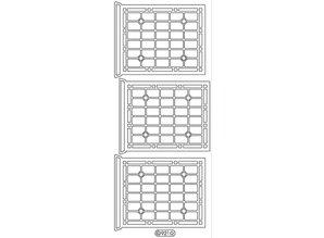Sticker Dekorative mærkat, vindue, skitsere, guld 10x23cm