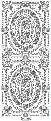 Sticker Ziersticker, telaio contorno, oro, 10x23cm