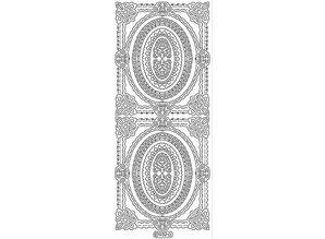 Sticker Ziersticker, frame skitsere, guld, 10x23cm