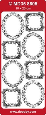 Sticker Ziersticker, Photo Frames flowers, 10x23cm