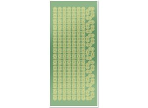 Sticker Stickers, lace borders and corners, gold-foil mirror green, format 10x23cm
