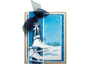 Marianne Design Design, skæring og prægning stencil, skøjter LR0247