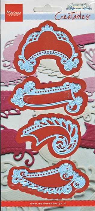 Marianne Design, cutting and embossing template, labels, LR0241