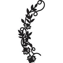 Prægning og Schneideshablone, Craftables blomsterkrans, CR1216