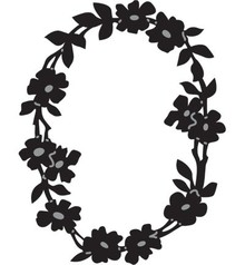 Marianne Design Embossing and Schneideshablone, FLOWER WREATH OVAL, CR1215