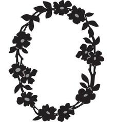Marianne Design Prægning og Schneideshablone, blomsterkrans OVAL, CR1215