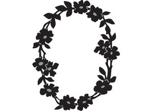 Marianne Design Marianne Design, embossing and Schneideshablone, OVAL FLORAL WREATH, CR1215