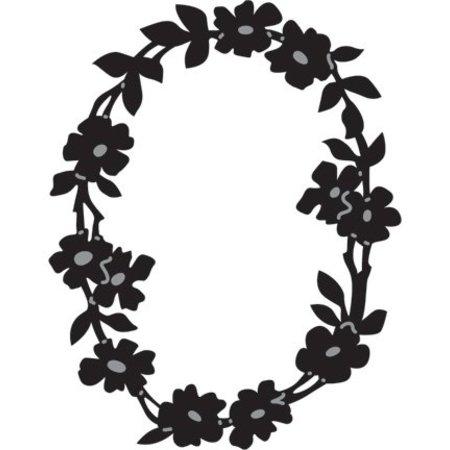 Marianne Design Marianne Design, estampado y Schneideshablone, ofrenda floral OVAL, CR1215