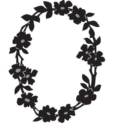 marianne design marianne design gaufrage et schneideshablone couronne de fleurs oval cr1215
