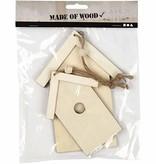 Objekten zum Dekorieren / objects for decorating 2 Vogelhäuschen aus Holz zum dekorieren