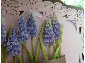 KARTEN und Zubehör / Cards Bastelbuch + 1 luksus card layout + 3D blomster