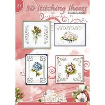 Pretty embroidery patterns with 3D motifs No.21
