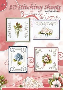 Bücher und CD / Magazines Pretty embroidery patterns with 3D motifs No.21