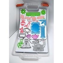 Ablagebox für Schablone + 3 Magnetbogen
