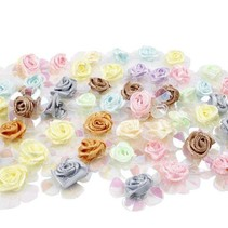 Pailletten rozen, assortiment, 20 stuks.