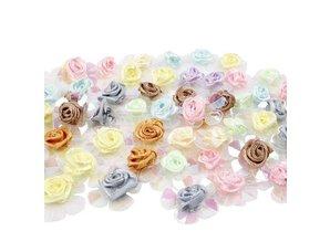Embellishments / Verzierungen Sequin roses, assortment, 20 pieces.