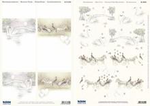 "BILDER / PICTURES: Studio Light, Staf Wesenbeek, Willem Haenraets 3D die cut sheet + Background bow, ""wedding"""