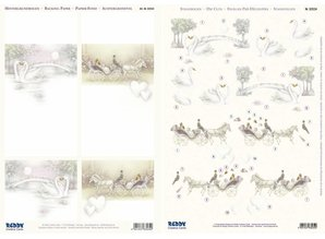 "BILDER / PICTURES: Studio Light, Staf Wesenbeek, Willem Haenraets 3D die cut sheet + Background bow, ""wedding"""