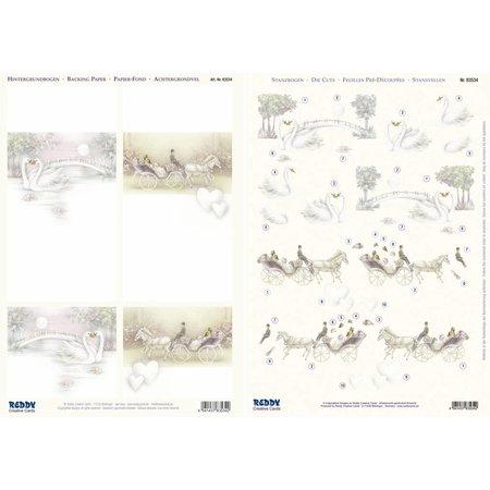 """BILDER / PICTURES: Studio Light, Staf Wesenbeek, Willem Haenraets 3D-Stanzbogen + Hintergrundbogen, """" Hochzeit """""""