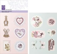 Cart-Us Præget Glitter Stickers fra Kollection Romantic Vintage,