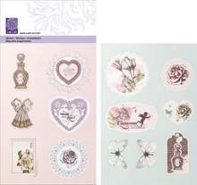 Cart-Us Præget Glitter Stickers fra Kollection Romantic Vintage,