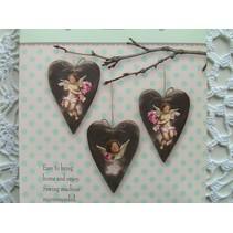 Tilda Craft Set corazones de terciopelo