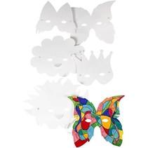 Maak carnaval maskers, 15-20 cm, 5 assorti,