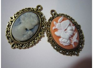 Embellishments / Verzierungen , Make cameos and frame it yourself.