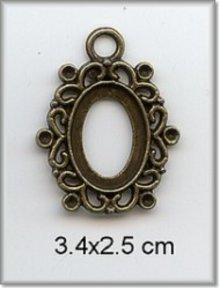 Embellishments / Verzierungen Fascino - Telaio, metallo, 3,4 x 2,5 cm.
