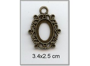 Embellishments / Verzierungen Charm - frame, metal, 3,4 x 2,5 cm.
