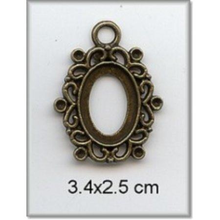 Embellishments / Verzierungen Charm - frame, metall, 3,4 x 2,5cm.