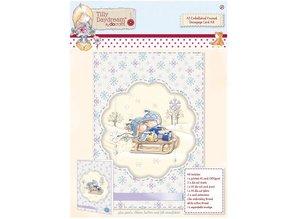 Komplett Sets / Kits A5 Embellished Framed Decoupage Card Kit - Tilly Daydream