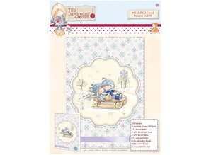 Komplett Sets / Kits A5 Embellished Indrammet Decoupage Card Kit - Tilly Daydream
