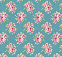 Tilda Tessuto di cotone, di nonna Rosa, blu, 50 x 70 cm, 100% cotone.