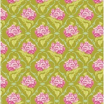 Cotton lilac, green, 50 x 70 cm, 100% cotton