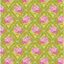 Katoen lila, groen, 50 x 70 cm, 100% katoen