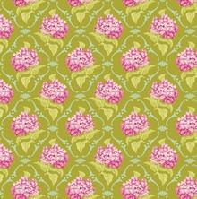 Tilda Cotton lilac, green, 50 x 70 cm, 100% cotton