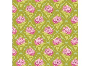Tilda Cotton lilla, grøn, 50 x 70 cm, 100% bomuld