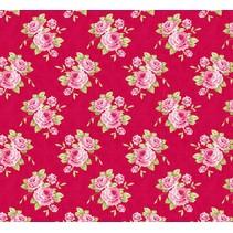 Katoen oma's rose, rood, 50 x 70 cm, 100% katoen
