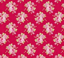 Tilda Cotton Grandma's rose, red, 50 x 70 cm, 100% cotton