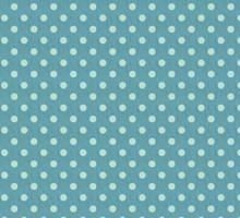 Tilda Bomuld, 50 x 70cm, stor blå plet, 100% bomuld.