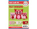 Kinder Bastelsets / Kids Craft Kits Complete Bastelset for Children: Pretty Felt Owls