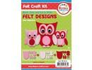 Kinder Bastelsets / Kids Craft Kits Komplettes Bastelset für Kinder: Hübsche Filz Eulen