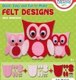 Kinder Bastelsets / Kids Craft Kits Búhos Pretty fieltro: Niños Craft Kit